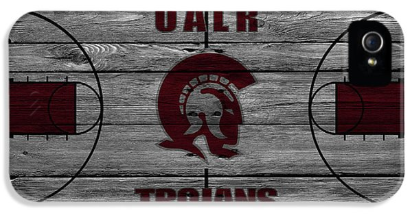 University Of Arkansas iPhone 5 Case - University Of Arkansas At Little Rock Trojans by Joe Hamilton