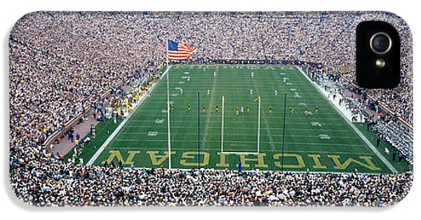 University Of Michigan Football Game IPhone 5 Case by Panoramic Images