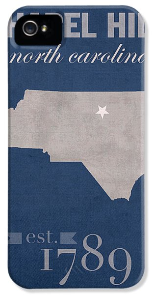 University Of North Carolina Tar Heels Chapel Hill Unc College Town State Map Poster Series No 076 IPhone 5 Case