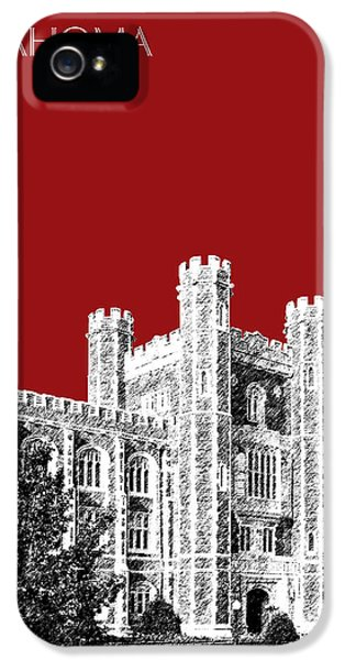 University Of Oklahoma - Dark Red IPhone 5 Case by DB Artist