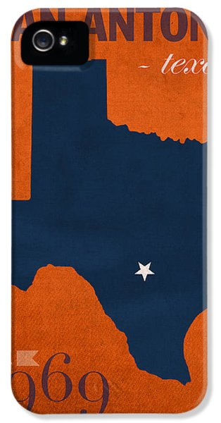 Roadrunner iPhone 5 Case - University Of Texas At San Antonio Roadrunners College Town State Map Poster Series No 111 by Design Turnpike