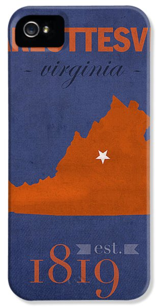 University Of Virginia Cavaliers Charlotteville College Town State Map Poster Series No 119 IPhone 5 Case
