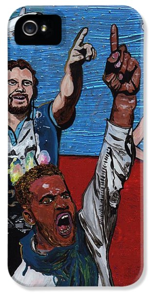Untitled Panel 2 Of 3 IPhone 5 Case by David Moriarty