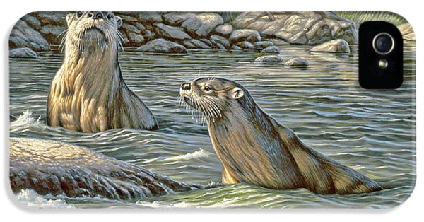 Up For Air - River Otters IPhone 5 Case