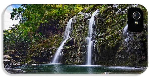 Upper Waikani Falls - The Stunningly Beautiful Three Bears Found In Maui. IPhone 5 Case by Jamie Pham