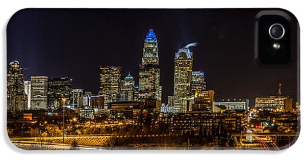 Uptown Charlotte Panorama IPhone 5 Case by Randy Scherkenbach