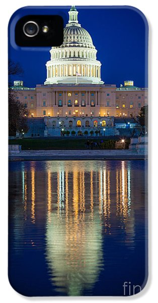 Us Capitol Reflections IPhone 5 Case by Inge Johnsson