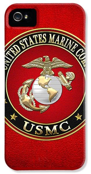 U. S. Marine Corps - U S M C Emblem Special Edition IPhone 5 Case