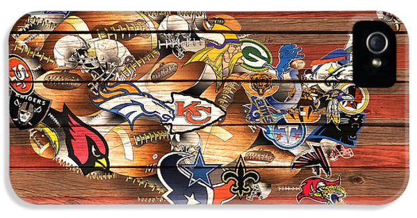 Usa Nfl Map Collage 10 IPhone 5 Case