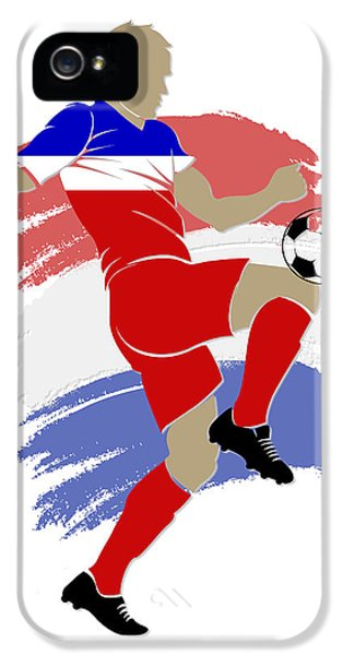 Usa Soccer Player IPhone 5 Case by Joe Hamilton