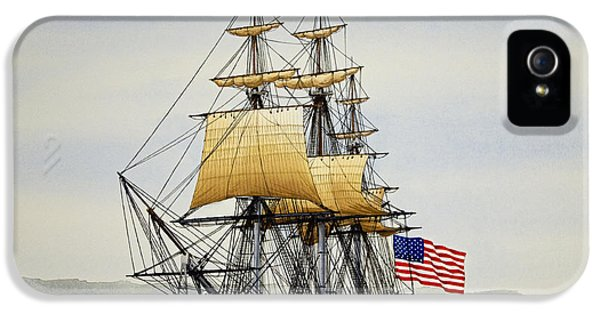 Uss Constitution IPhone 5 Case by James Williamson