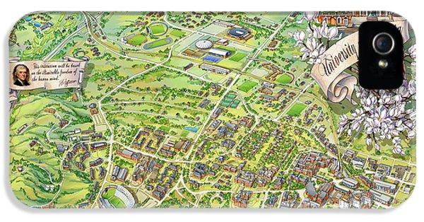Campus Map Iphone 5 Cases Fine Art America