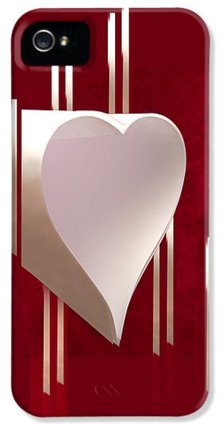 Valentine Paper Heart IPhone 5 Case by Gary Eason
