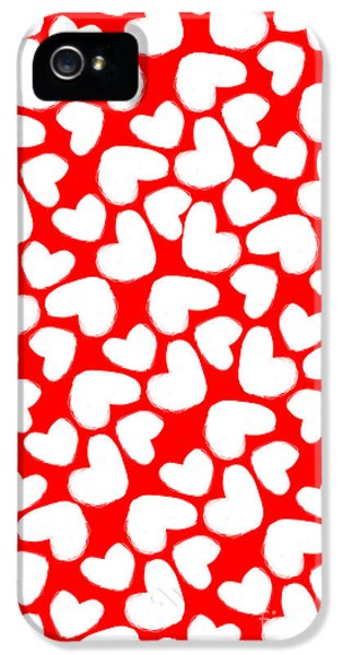 Valentines Day Card IPhone 5 Case by Louisa Knight
