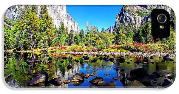 Valley View Reflection Yosemite National Park IPhone 5 / 5s Case by Scott McGuire