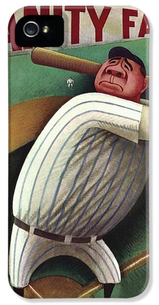 Vanity Fair Cover Featuring Babe Ruth IPhone 5 Case by Miguel Covarrubias