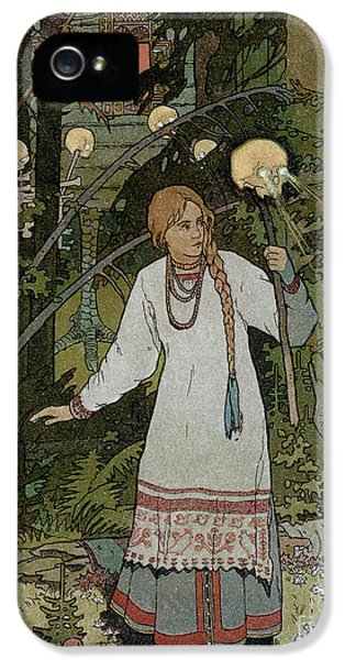 Vassilissa In The Forest IPhone 5 Case by Ivan Bilibin