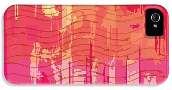 Damage iPhone 5 Case - Vector Grunge Background With Space For by Iulias