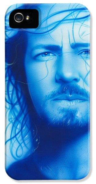 Pearl Jam iPhone 5 Case - Vedder by Christian Chapman Art