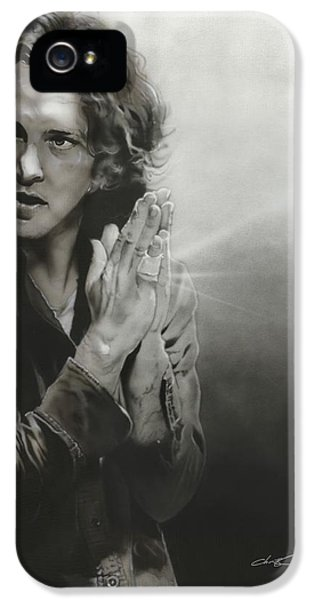 Pearl Jam iPhone 5 Case - Vedder Iv by Christian Chapman Art
