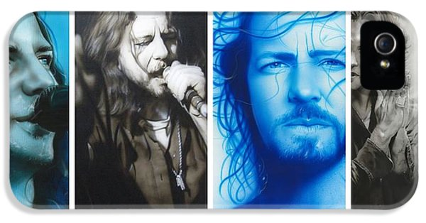 Pearl Jam iPhone 5 Case - Vedder Mosaic I by Christian Chapman Art