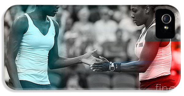 Venus Williams And Serena Williams IPhone 5 / 5s Case by Marvin Blaine