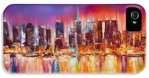 Empire State Building iPhone 5 Case - Vibrant New York City Skyline by Manit