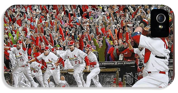 Baseball iPhone 5 Case - Victory - St Louis Cardinals Win The World Series Title - Friday Oct 28th 2011 by Dan Haraga