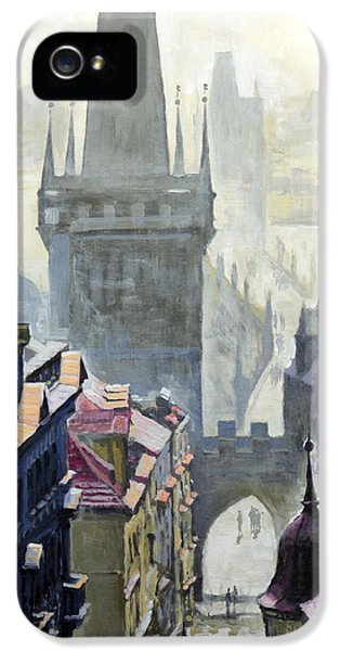 View From The Mostecka Street In The Direction Of Charles Bridge IPhone 5 Case by Yuriy Shevchuk