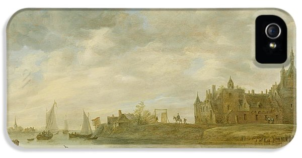 Castle iPhone 5 Case - View Of The Castle Of Wijk At Duurstede by Jan van Goyen