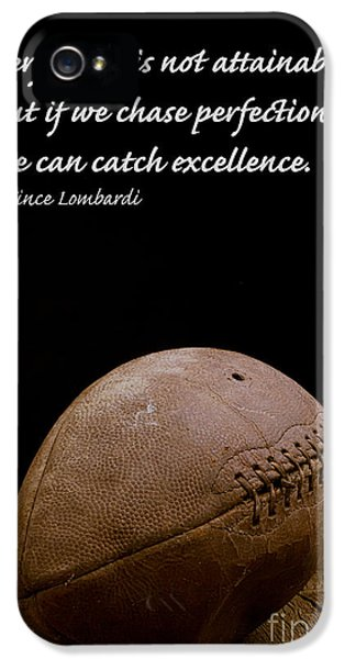 Day iPhone 5 Case - Vince Lombardi On Perfection by Edward Fielding