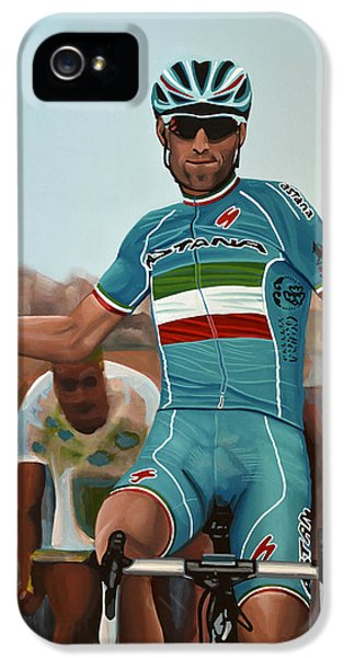 Vincenzo Nibali Painting IPhone 5 Case by Paul Meijering