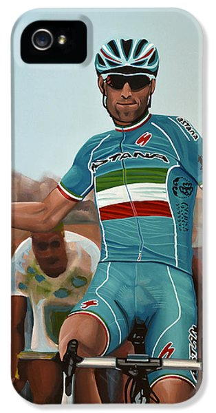 Vincenzo Nibali Painting IPhone 5 / 5s Case by Paul Meijering