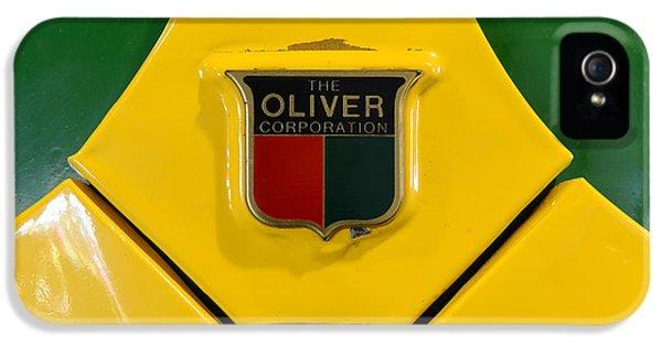 Oliver Tractor iPhone 5 Case - Vintage 1950 Oliver Tractor Emblem by Paul Ward