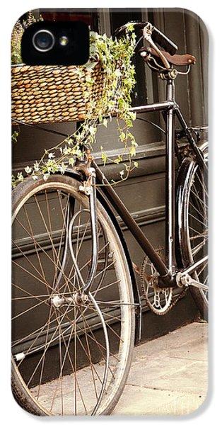 Bicycle iPhone 5 Case - Vintage Bicycle by Jane Rix