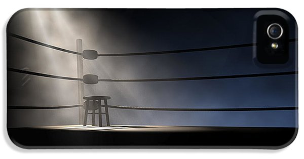 Vintage Boxing Corner And Stool IPhone 5 Case by Allan Swart