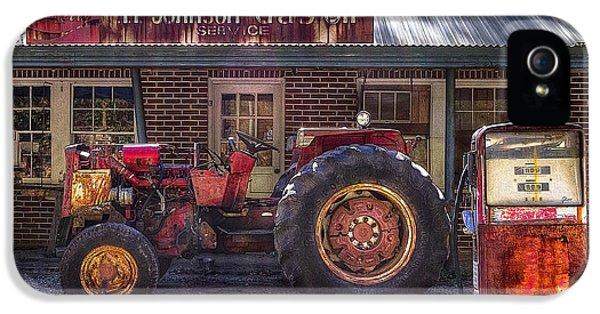 Oliver Tractor iPhone 5 Case - Vintage by Debra and Dave Vanderlaan