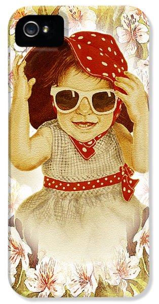 IPhone 5 Case featuring the painting Vintage Fashion Girl by Irina Sztukowski