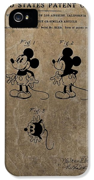 Vintage Mickey Mouse Patent IPhone 5 Case
