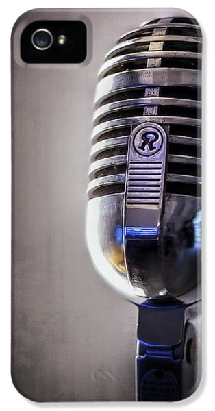 Vintage Microphone 2 IPhone 5 Case by Scott Norris