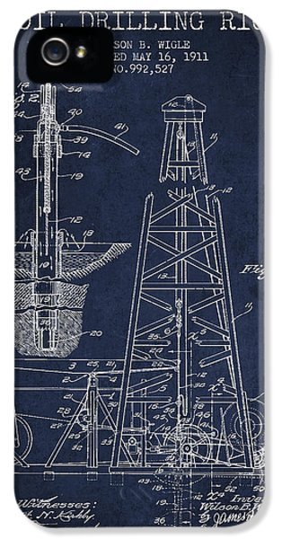 Vintage Oil Drilling Rig Patent From 1911 IPhone 5 Case by Aged Pixel