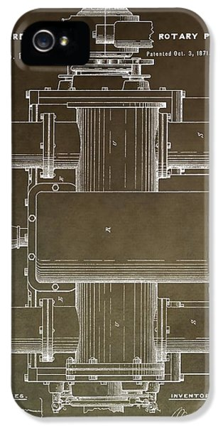 Vintage Rotary Pump Patent IPhone 5 Case