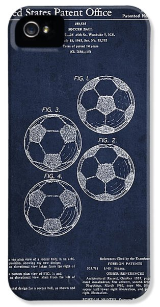 Vintage Soccer Ball Patent Drawing From 1964 IPhone 5 Case by Aged Pixel