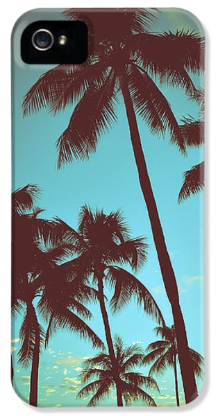 Vintage Tropical Palms IPhone 5 Case