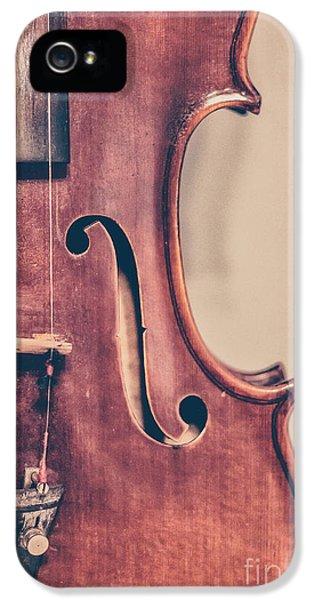 Violin iPhone 5 Case - Vintage Violin Portrait 2 by Emily Kay