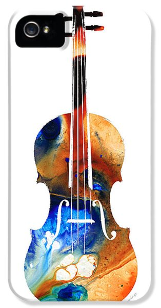 Violin Art By Sharon Cummings IPhone 5 Case by Sharon Cummings