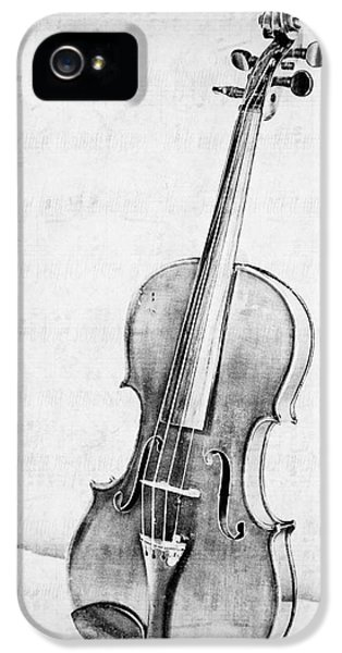 Violin iPhone 5 Case - Violin In Black And White by Emily Kay