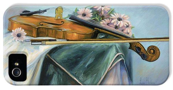 Violin iPhone 5 Case - Violin by Lucie Bilodeau