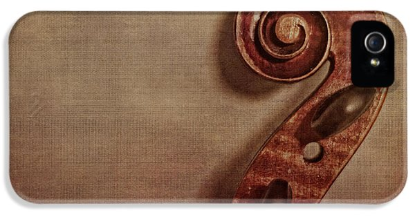 Violin iPhone 5 Case - Violin Scroll by Emily Kay