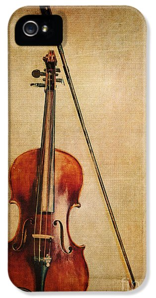 Violin iPhone 5 Case - Violin With Bow by Emily Kay